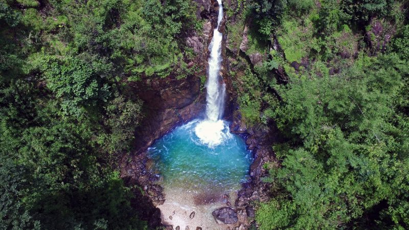 Kanchanaburi waterfall Thong Pa Phum
