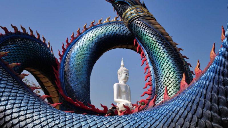 Wat Roi Phra Putthabat Phu Manorom, Mukdahan
