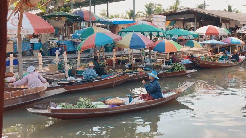 video tha kha floating market